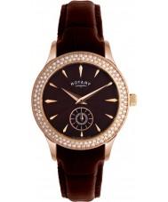 Rotary LS02907-16 Ladies Ure krystaller brown dial og læderrem ur