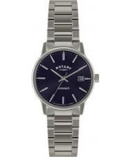 Rotary GB02874-05 Mens ure hævner blå sølv ur