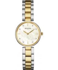Bulova 98S146 Ladies diamant to tone stållænke ur