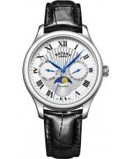 Rotary GS05065-01 Herre ure Månens fase sort kronograf ur