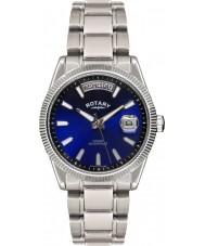 Rotary GB02660-05 Mens ure havana blå sølv ur