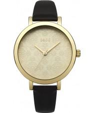 Oasis B1544 Ladies sort læderrem ur