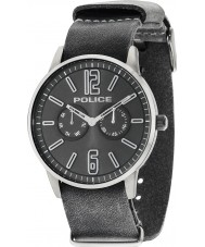 Police 14766JSU-61 Mens esquire x grå læderrem ur