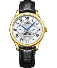 Rotary GS05066-01 Herre ure Månens fase sort kronograf ur