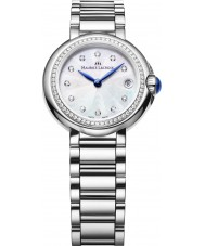 Maurice Lacroix FA1003-SD502-170 Ladies fiaba runde sølv ur med diamanter
