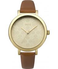 Oasis B1545 Ladies tan læderrem ur
