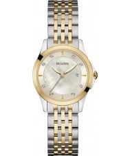 Bulova 98S148 Ladies diamant to tone stållænke ur