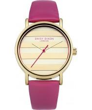 Daisy Dixon DD009PG Ladies valmue guld pink læderrem ur