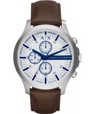 Armani Exchange AX2190 Mens kjole mørkebrunt læder kronograf ur