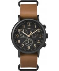 Timex TW2P97500 Weekender tan læder kronograf ur