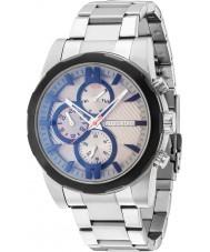 Police 14541JSTB-13M Mens matchcord sølv stållænke ur