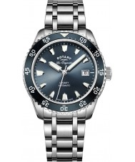 Rotary GB90168-05 Mens ure arv sølv stållænke ur