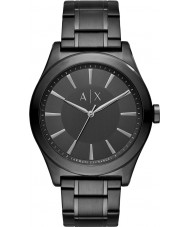 Armani Exchange AX2322 Mens kjole sort stållænke ur