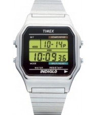 Timex T78587 Herre sølv klassiske digitale kronograf ur