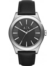 Armani Exchange AX2323 Mens kjole sort læderrem ur