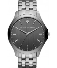 Armani Exchange AX2169 Mens kjole rødgods stållænke ur