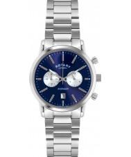 Rotary GB02730-05 Mens Ure sport hævner blå sølv kronograf ur