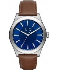 Armani Exchange AX2324 Mens kjole mørk brun læderrem ur