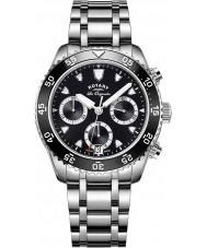 Rotary GB90170-04 Mens ure arv sølv kronograf ur