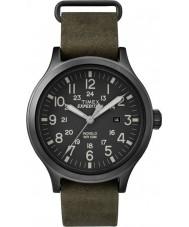 Timex TW4B06700 MENS spejder grøn læderrem ur