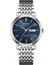 Rotary GB90153-05 Mens les originales windsor sølv stållænke ur