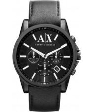 Armani Exchange AX2098 Mens Black læderrem kronograf dress watch