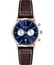 Rotary GS02730-05 Mens Ure sport hævner blå brun kronograf ur