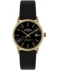 Rotary GS02877-04 Mens ure hævner rosa guld sort ur