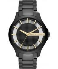 Armani Exchange AX2192 Mens kjole sort stållænke ur