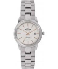 Rotary LB02735-06 Ladies ure hævner sølv stål ur