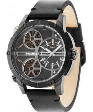 Police 14699JSB-02 MENS klapperslange sort læderrem ur