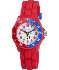 Tikkers TK0040 Drenge rød tid lærer fodbold ur