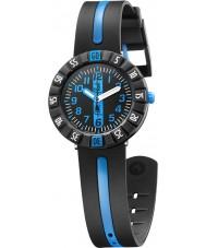 Flik Flak FCSP031 Drenge blå foran to tone silikone rem ur