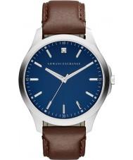 Armani Exchange AX2181 Mens kjole mørk brun læderrem ur