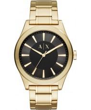 Armani Exchange AX2328 Mens nico guld stållænke ur