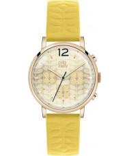 Orla Kiely OK2004 Ladies frankie kronograf gul læderrem ur