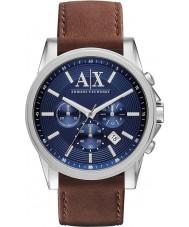 Armani Exchange AX2501 Mens blå brun kronograf dress watch