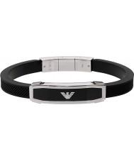 Emporio Armani EGS1543040 Mens indlæg sorte armbånd