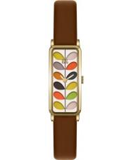Orla Kiely OK2104 Ladies stamceller print tan læderrem ur