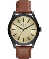Armani Exchange AX2329 Mens nico mørk brun læderrem ur
