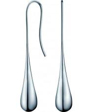 Calvin Klein KJ3QME000100 Ladies ellipse sølv stål øreringe