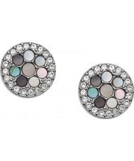 Fossil JF02310040 Ladies vintage glitz sølv tone stål øreringe