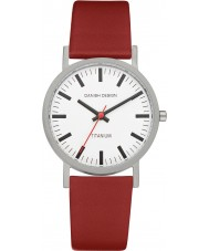 Danish Design Q19Q199 Mens rød læderrem ur