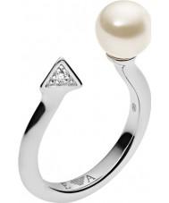 Emporio Armani EG3288040-6.5 Ladies deco perler sterling sølv ring - størrelse M.5