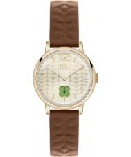 Orla Kiely OK2008 Ladies frankie brun læderrem ur