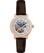 Rotary GS90505-06 Mens les originales jura automatisk skelet rosa guld ur