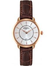 Rotary LS02919-03 Ladies ure elise brun læderrem ur