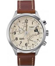 Timex T2N932 Mens creme brun fly-back kronograf ur