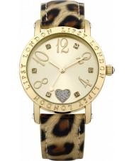Lipsy LP124 Ladies guld og dyreprint ur