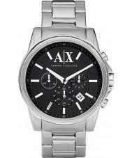 Armani Exchange AX2084 Mens Black sølv kronograf kjole ur